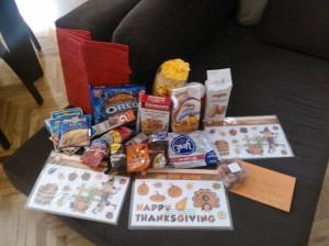 Oreos, York Peppermint Patties, Tostada shells, taco seasoning, and Gatorade flavorings. People read my blog! Yay!
