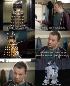 Dr. Who snickers